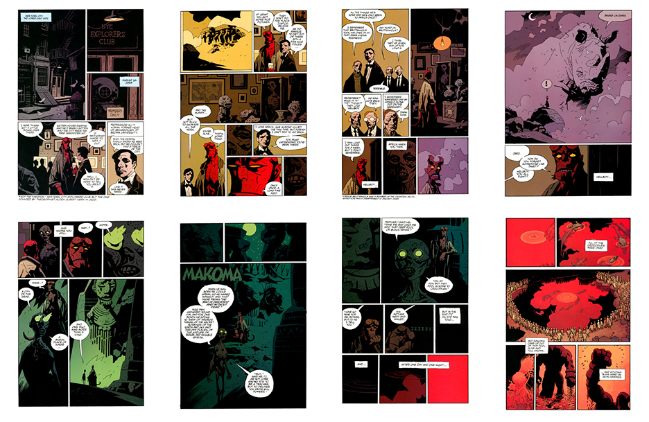 Hellboy: Makoma (the original art plates), Part 1, 24 pgs