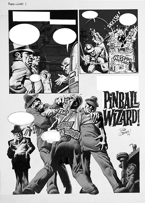 Pinball Wizard! Original Art Plate