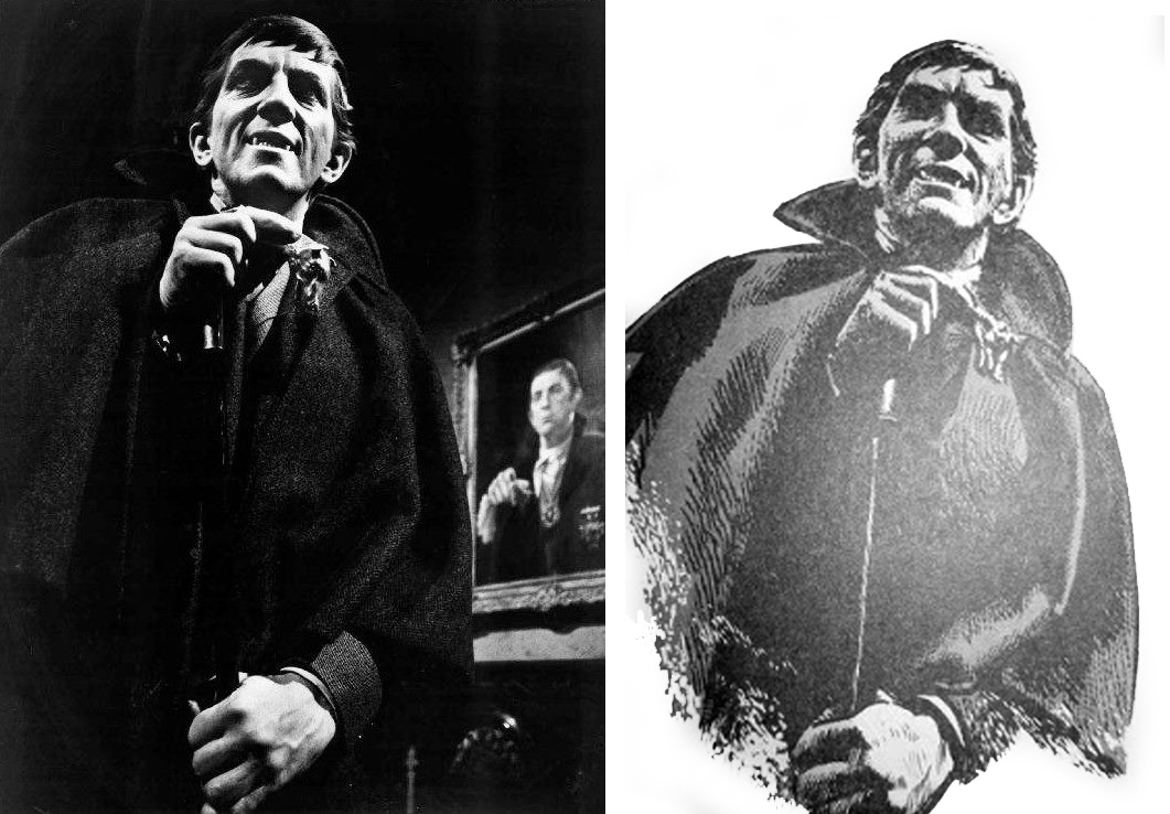 Barnabas Collins [Jonathan Frid] with Cane