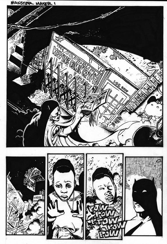Batman: Monster Maker. Original Art Plate