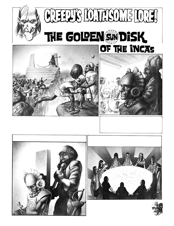Creepy's Loathsome Lore! #34: The Golden Sun Disk of the Incas