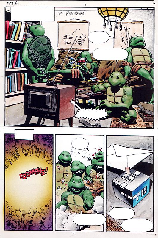 Turtles Take Time. Original Art Plate
