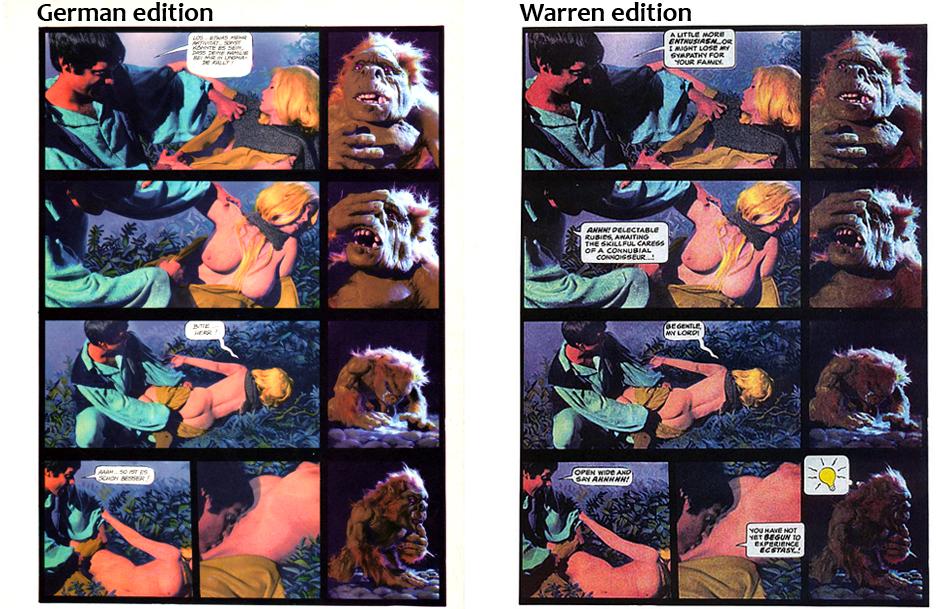 Ogre, Warren vs. German edition